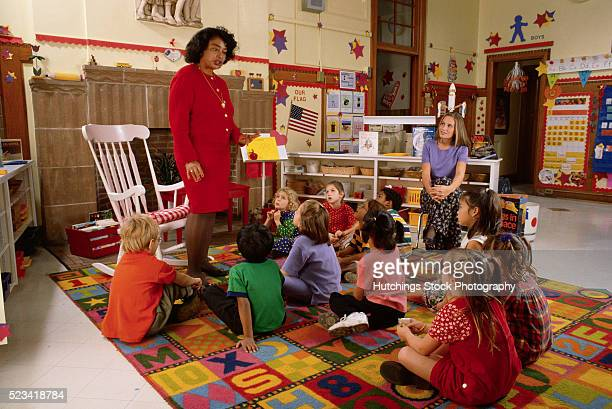 6-Year-Olds Listening to Their Teacher