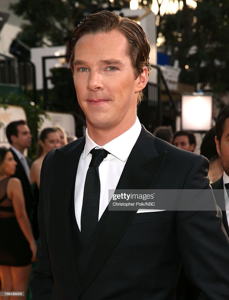 70th ANNUAL GOLDEN GLOBE AWARDS -- Pictured: Actor <a gi-track='captionPersonalityLinkClicked' href=/galleries/search?phrase=Benedict+Cumberbatch&family=editorial&specificpeople=2487879 ng-click='$event.stopPropagation()'>Benedict Cumberbatch</a> arrives to the 70th Annual Golden Globe Awards held at the Beverly Hilton Hotel on January 13, 2013.