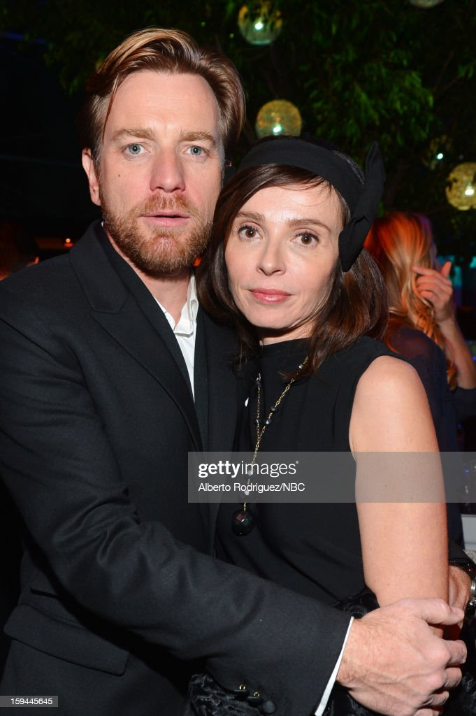 70th ANNUAL GOLDEN GLOBE AWARDS -- Pictured: Actor <a gi-track='captionPersonalityLinkClicked' href=/galleries/search?phrase=Ewan+McGregor&family=editorial&specificpeople=202863 ng-click='$event.stopPropagation()'>Ewan McGregor</a> (L) and <a gi-track='captionPersonalityLinkClicked' href=/galleries/search?phrase=Eve+Mavrakis&family=editorial&specificpeople=213940 ng-click='$event.stopPropagation()'>Eve Mavrakis</a> pose during NBC Universal's Golden Globes Post-Party Sponsored by Fiat and Hilton held at the Beverly Hilton Hotel on January 13, 2013