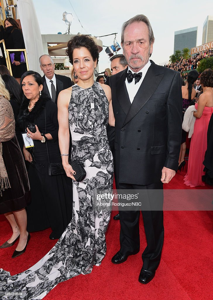 70th ANNUAL GOLDEN GLOBE AWARDS Pictured Actor Tommy Lee Jones and Dawn Jones arrive to the 70th Annual Golden Globe Awards held at the Beverly...
