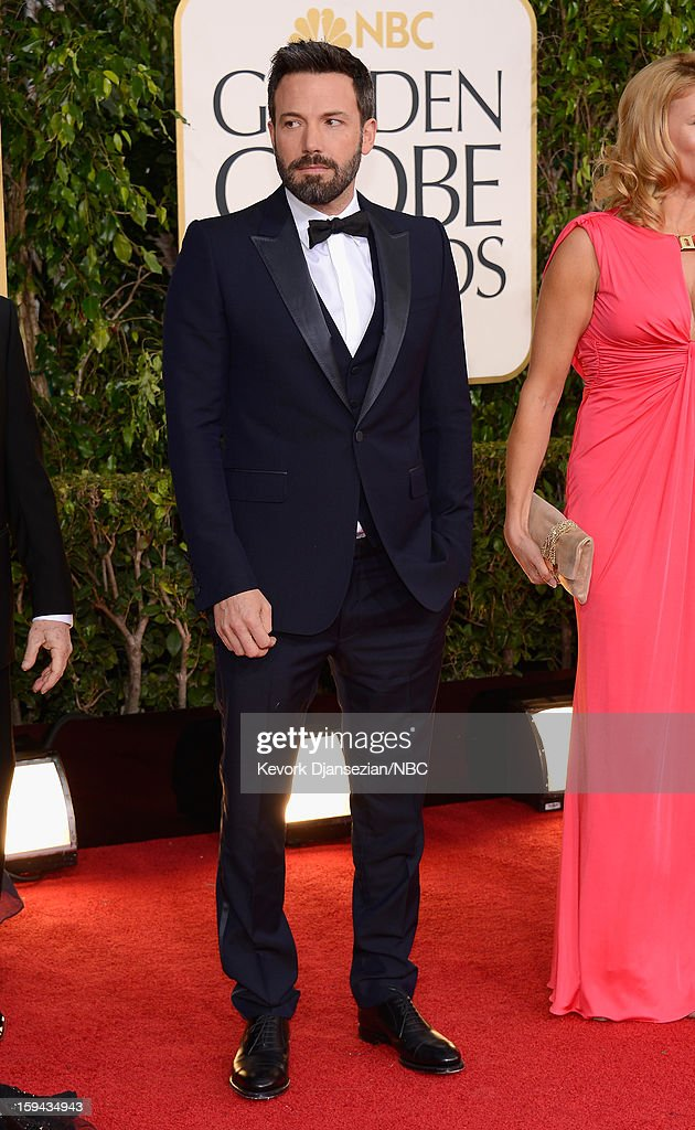 70th ANNUAL GOLDEN GLOBE AWARDS -- Pictured: Actor/director <a gi-track='captionPersonalityLinkClicked' href=/galleries/search?phrase=Ben+Affleck&family=editorial&specificpeople=201856 ng-click='$event.stopPropagation()'>Ben Affleck</a> arrives to the 70th Annual Golden Globe Awards held at the Beverly Hilton Hotel on January 13, 2013.