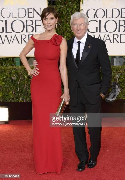 70th ANNUAL GOLDEN GLOBE AWARDS Pictured Actors Carey Lowell and Richard Gere arrive to the 70th Annual Golden Globe Awards held at the Beverly...