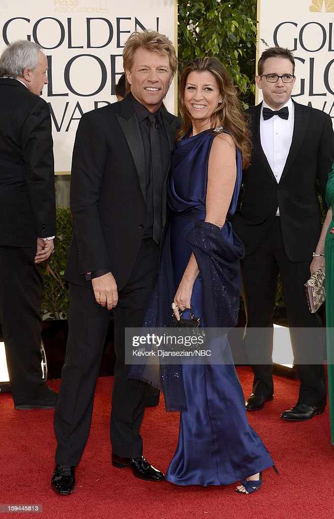 70th ANNUAL GOLDEN GLOBE AWARDS -- Pictured: (L-R) Actor-singer Jon Bon Jovi and wife Dorothea Hurley arrive to the 70th Annual Golden Globe Awards held at the Beverly Hilton Hotel on January 13, 2013.
