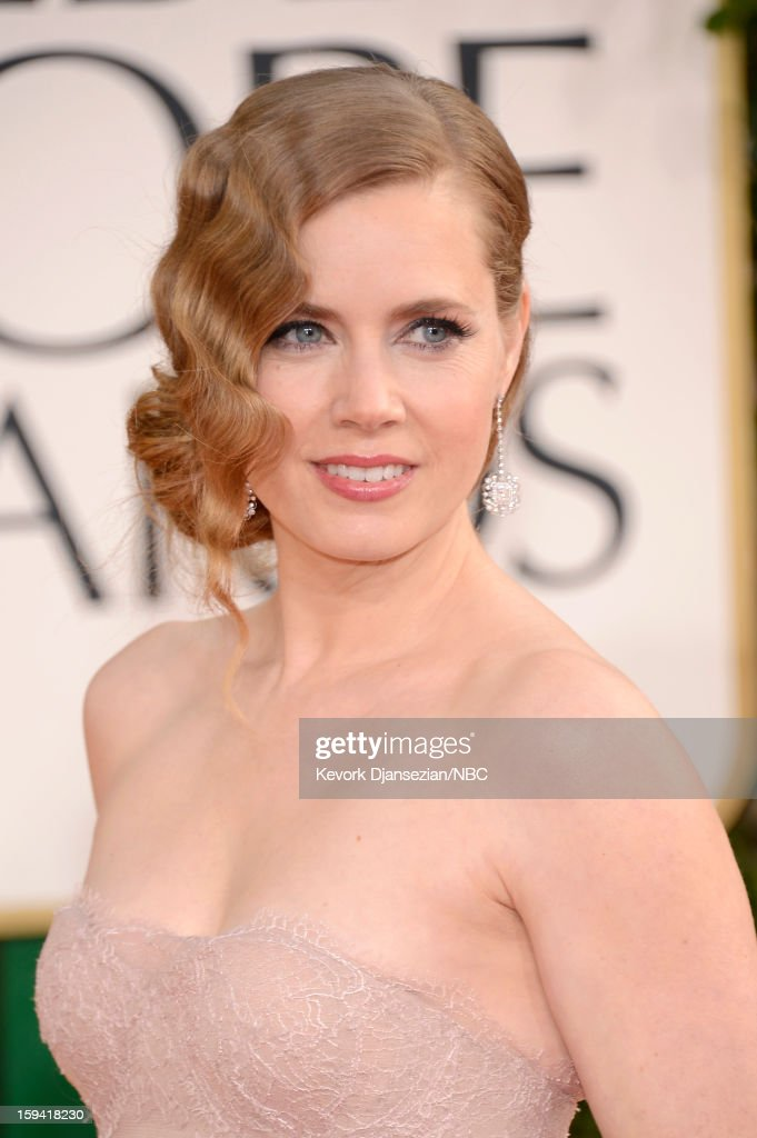 70th ANNUAL GOLDEN GLOBE AWARDS -- Pictured: Actress Amy Adams arrives to the 70th Annual Golden Globe Awards held at the Beverly Hilton Hotel on January 13, 2013.
