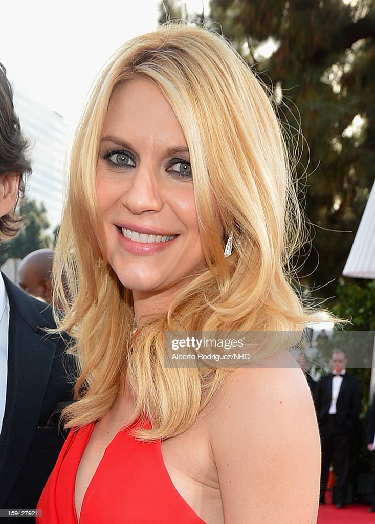 70th ANNUAL GOLDEN GLOBE AWARDS -- Pictured: Actress <a gi-track='captionPersonalityLinkClicked' href=/galleries/search?phrase=Claire+Danes&family=editorial&specificpeople=202666 ng-click='$event.stopPropagation()'>Claire Danes</a> arrive to the 70th Annual Golden Globe Awards held at the Beverly Hilton Hotel on January 13, 2013.