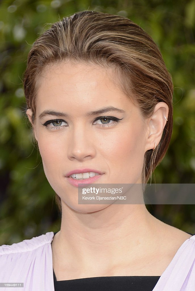 70th ANNUAL GOLDEN GLOBE AWARDS -- Pictured: Actress <a gi-track='captionPersonalityLinkClicked' href=/galleries/search?phrase=Cody+Horn&family=editorial&specificpeople=607279 ng-click='$event.stopPropagation()'>Cody Horn</a> arrives to the 70th Annual Golden Globe Awards held at the Beverly Hilton Hotel on January 13, 2013.