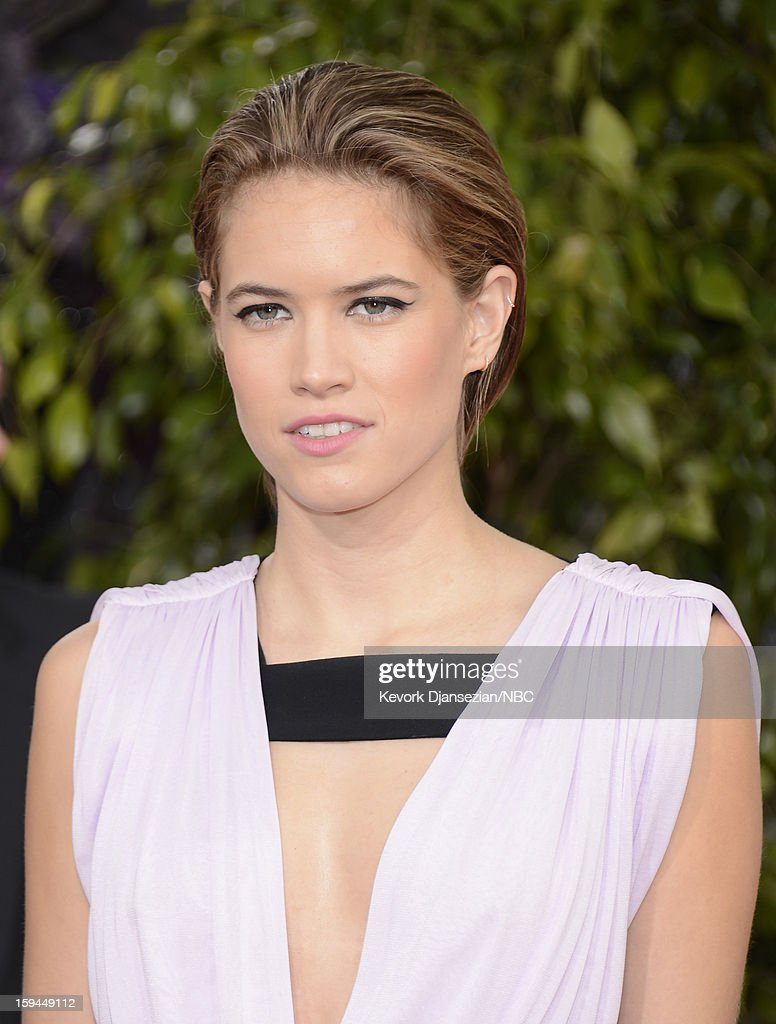 70th ANNUAL GOLDEN GLOBE AWARDS -- Pictured: Actress Cody Horn arrives to the 70th Annual Golden Globe Awards held at the Beverly Hilton Hotel on January 13, 2013.