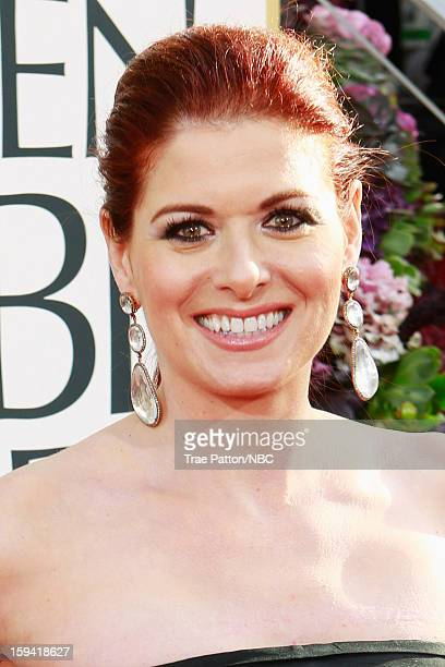 70th ANNUAL GOLDEN GLOBE AWARDS Pictured Actress Debra Messing arrives to the 70th Annual Golden Globe Awards held at the Beverly Hilton Hotel on...
