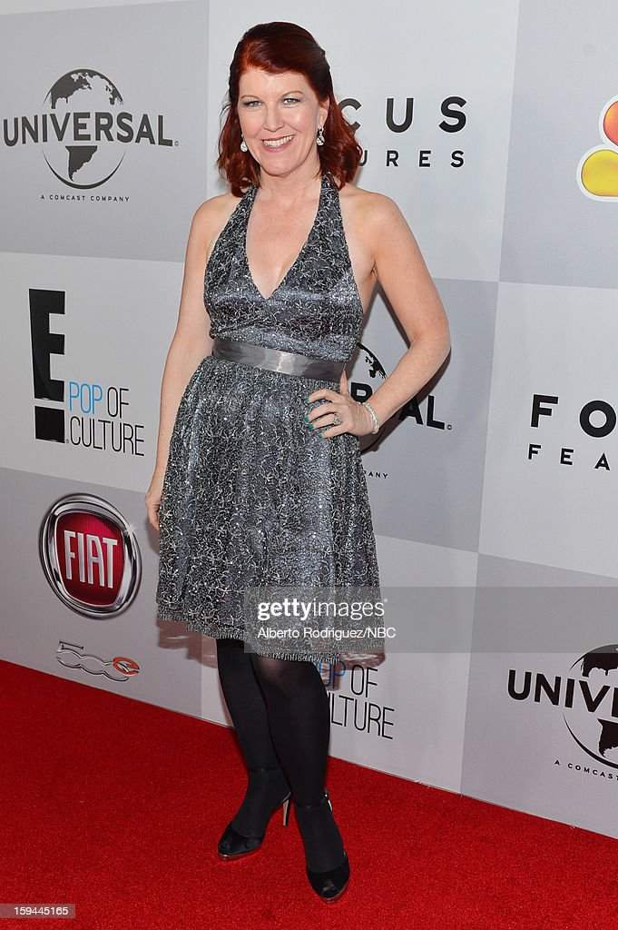70th ANNUAL GOLDEN GLOBE AWARDS -- Pictured: Actress <a gi-track='captionPersonalityLinkClicked' href=/galleries/search?phrase=Kate+Flannery&family=editorial&specificpeople=580714 ng-click='$event.stopPropagation()'>Kate Flannery</a> arrives at NBC Universal's Golden Globes Post-Party Sponsored by Fiat and Hilton held at the Beverly Hilton Hotel on January 13, 2013