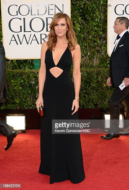 70th ANNUAL GOLDEN GLOBE AWARDS Pictured Actress Kristen Wiig arrives to the 70th Annual Golden Globe Awards held at the Beverly Hilton Hotel on...