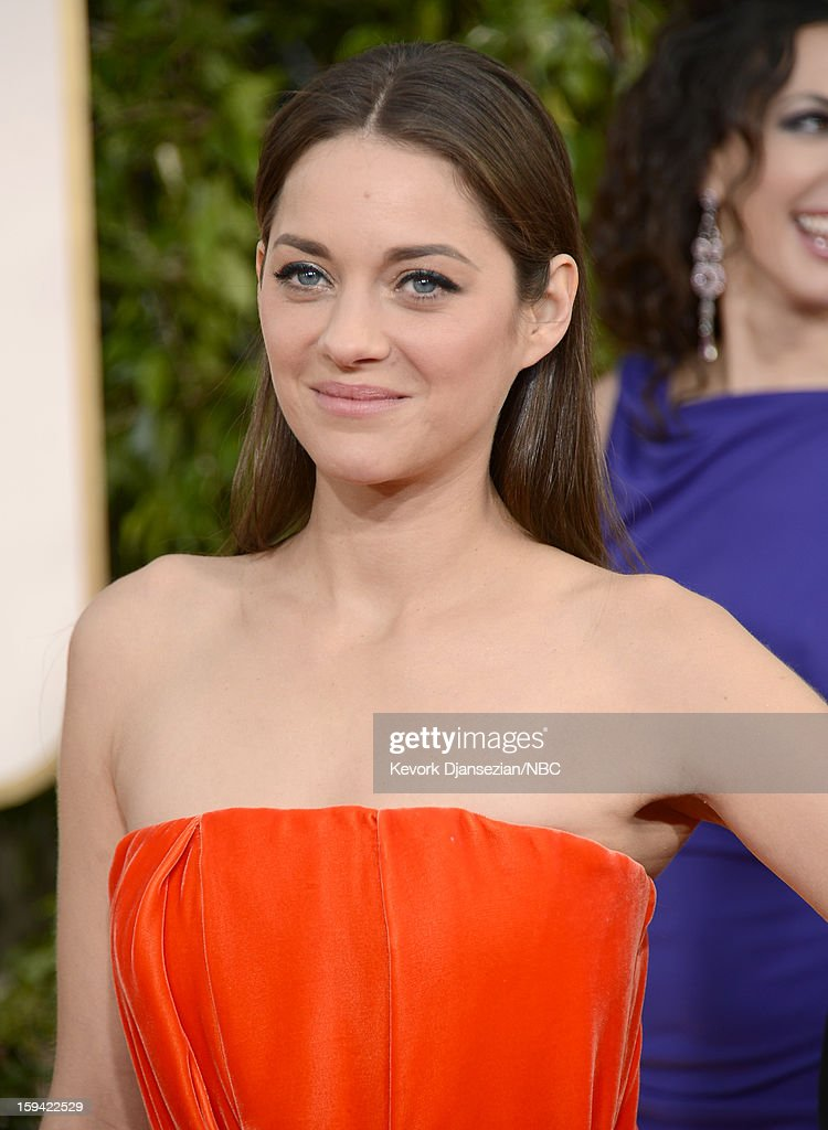 70th ANNUAL GOLDEN GLOBE AWARDS -- Pictured: Actress Marion Cotillard arrives to the 70th Annual Golden Globe Awards held at the Beverly Hilton Hotel on January 13, 2013.