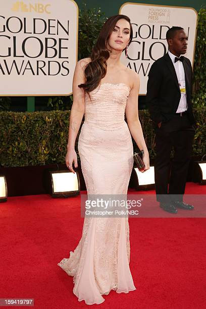 70th ANNUAL GOLDEN GLOBE AWARDS Pictured Actress Megan Fox arrives to the 70th Annual Golden Globe Awards held at the Beverly Hilton Hotel on January...