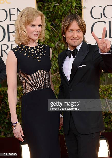 70th ANNUAL GOLDEN GLOBE AWARDS Pictured Actress Nicole Kidman and musician Keith Urban arrive to the 70th Annual Golden Globe Awards held at the...