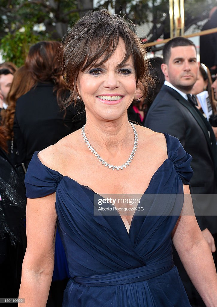 70th ANNUAL GOLDEN GLOBE AWARDS Pictured Actress Sally Field arrives to the 70th Annual Golden Globe Awards held at the Beverly Hilton Hotel on...