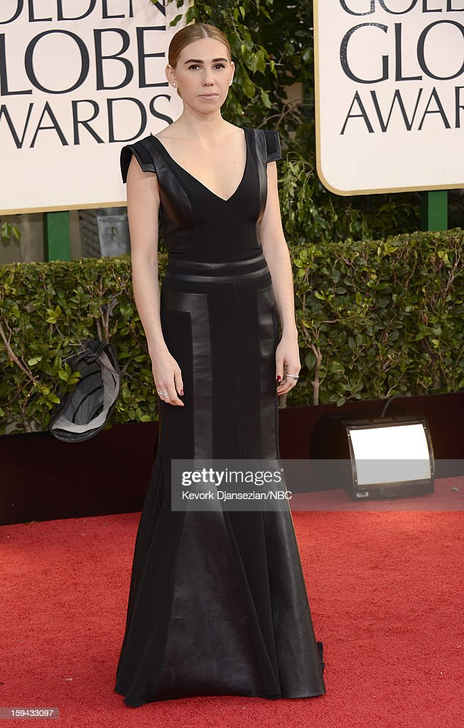 70th ANNUAL GOLDEN GLOBE AWARDS -- Pictured: Actress/Director <a gi-track='captionPersonalityLinkClicked' href=/galleries/search?phrase=Lena+Dunham&family=editorial&specificpeople=5836535 ng-click='$event.stopPropagation()'>Lena Dunham</a> arrives to the 70th Annual Golden Globe Awards held at the Beverly Hilton Hotel on January 13, 2013.