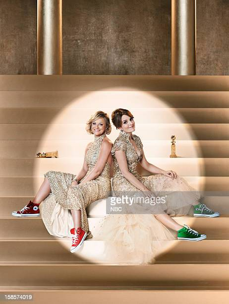 AWARDS 70th Annual Golden Globe Awards Pictured Hosts Amy Poehler Tina Fey