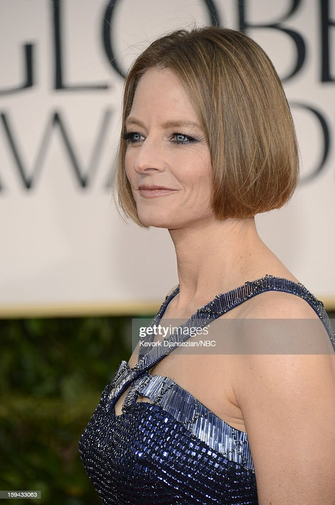 70th ANNUAL GOLDEN GLOBE AWARDS -- Pictured: <a gi-track='captionPersonalityLinkClicked' href=/galleries/search?phrase=Jodie+Foster&family=editorial&specificpeople=204488 ng-click='$event.stopPropagation()'>Jodie Foster</a> arrives to the 70th Annual Golden Globe Awards held at the Beverly Hilton Hotel on January 13, 2013.