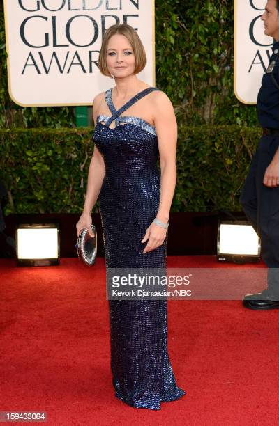 70th ANNUAL GOLDEN GLOBE AWARDS Pictured Jodie Foster arrives to the 70th Annual Golden Globe Awards held at the Beverly Hilton Hotel on January 13...