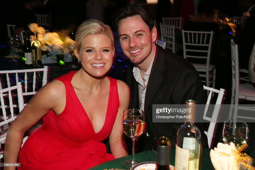 70th ANNUAL GOLDEN GLOBE AWARDS -- Pictured: (L-R) Megan Hilty and Brian Gallagher during NBC Universal's Golden Globes Post-Party Sponsored by Fiat and Hilton held at the Beverly Hilton Hotel on January 13, 2013