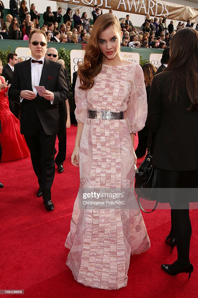 70th ANNUAL GOLDEN GLOBE AWARDS -- Pictured: Model <a gi-track='captionPersonalityLinkClicked' href=/galleries/search?phrase=Barbara+Palvin&family=editorial&specificpeople=7190694 ng-click='$event.stopPropagation()'>Barbara Palvin</a> arrives to the 70th Annual Golden Globe Awards held at the Beverly Hilton Hotel on January 13, 2013.