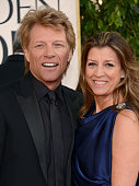 70th ANNUAL GOLDEN GLOBE AWARDS Pictured Musician Jon Bon Jovi and his wife Dorothea Hurley arrive to the 70th Annual Golden Globe Awards held at the...