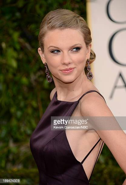 70th ANNUAL GOLDEN GLOBE AWARDS Pictured Taylor Swift arrives to the 70th Annual Golden Globe Awards held at the Beverly Hilton Hotel on January 13...
