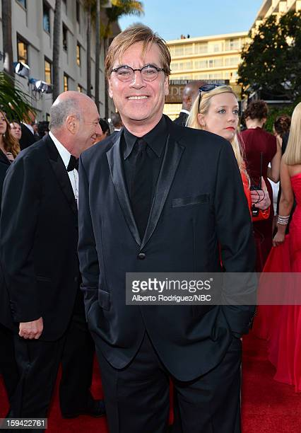 70th ANNUAL GOLDEN GLOBE AWARDS Pictured Writer Aaron Sorkin arrives to the 70th Annual Golden Globe Awards held at the Beverly Hilton Hotel on...