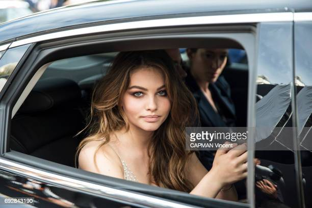 70th edition of the Cannes International Film Festival French actress Thylane Blondeaul leaving the Martinez hotel in Cannes May 18 2017