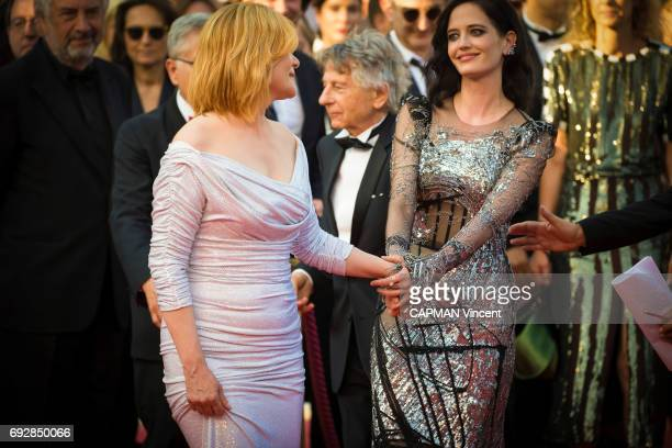 70th edition of the Cannes international film festival in Cannes Mathilde Seigner Roman Polanski Eva Green May 27 2017