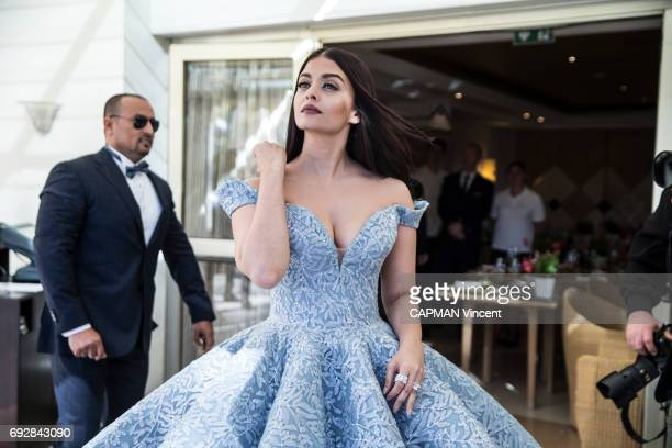 70th edition of the Cannes International Film Festival Indian actress Aishwarya Rai wearing Michael Cinco in the Martinez hotel in Cannes May 19 2017