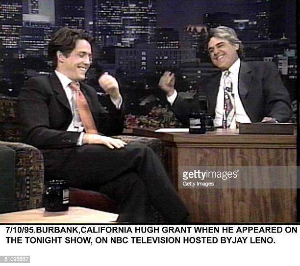 Burbank CaliforniaHugh Grant On The Tonight Show With Jay Leno Talks About His New Nine Months Film