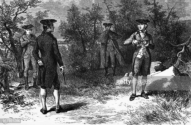 Alexander Hamilton's duel with Aaron Burr at Weehawken BPA2# 668