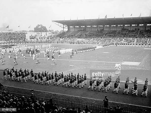 7/12/1924Paris France A parade opens the Olympic Games in Paris
