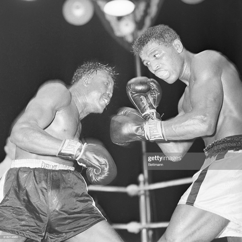 7/12/1949Philadelphia PA Kid Galivan looks somewhat the worse for wear after some tough infighting with Sugar Ray Robinson during their welterweight...
