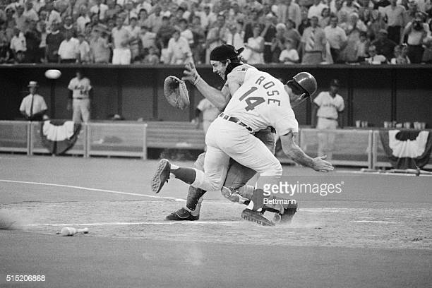 7/14/1970Cincinnati OH On a single to center hit by Chicago Cubs' Jim Hickman Cincinnati Reds' Pete Rose scores the winning run in the 12th inning...