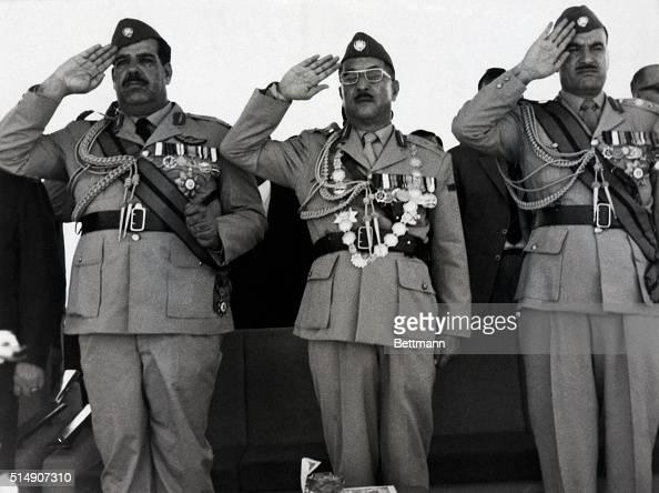7/17/1969Baghdad Iraq Deputy Premier and Defense Minister Lieutenant General Hardan Tikriti President Ahmed Hassan AlBakr and Chief of Staff...