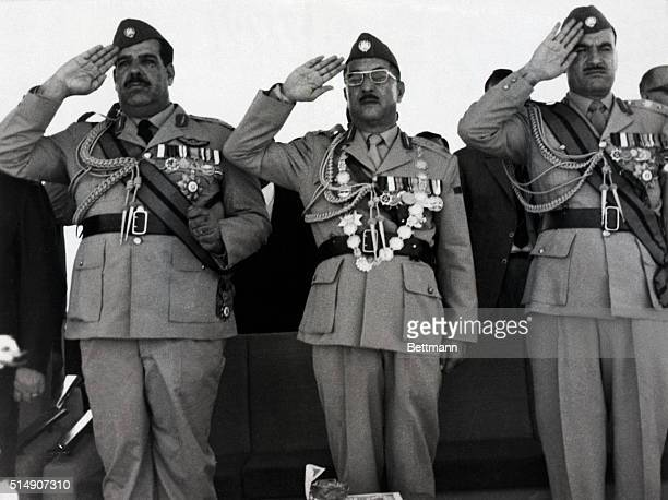 7/17/1969Baghdad Iraq Deputy Premier and Defense Minister Lieutenant General Hardan Tikriti President Ahmed Hassan AlBakr and Chief of Staff...