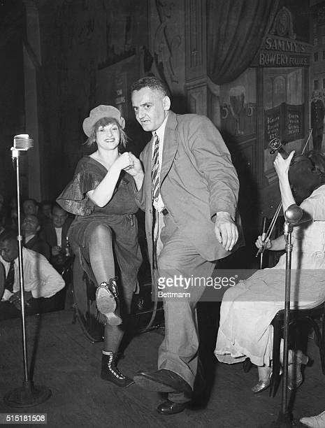 7/18/1945New York NY New York's most colorful freelance photographer 'Weegee' trips the light fantastic with famous Bowery entertainer Dorothy Smith...