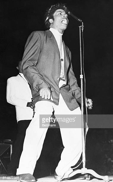 7/18/1956Toronto Canada The chap at left above is 'Little Richard' rock'n roll impressario who was among the entertainers at the rock'n roll show...