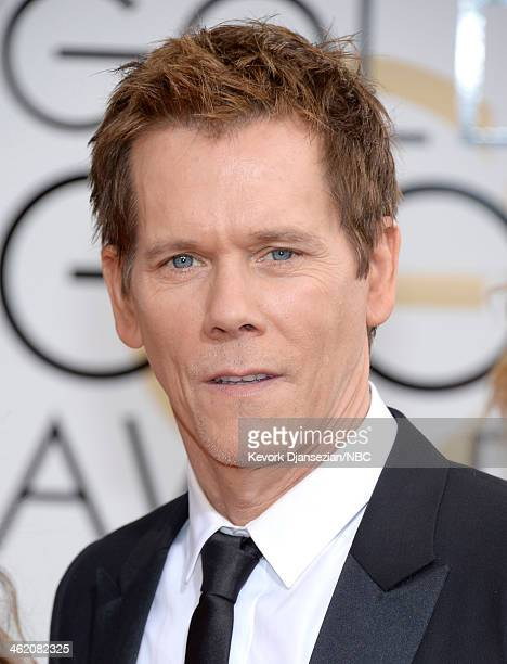 71st ANNUAL GOLDEN GLOBE AWARDS Pictured Actor Kevin Bacon arrives to the 71st Annual Golden Globe Awards held at the Beverly Hilton Hotel on January...
