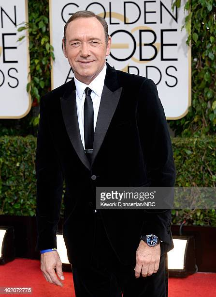71st ANNUAL GOLDEN GLOBE AWARDS Pictured Actor Kevin Spacey arrives to the 71st Annual Golden Globe Awards held at the Beverly Hilton Hotel on...