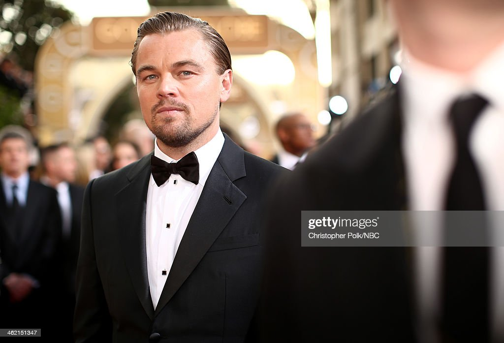 71st ANNUAL GOLDEN GLOBE AWARDS -- Pictured: Actor <a gi-track='captionPersonalityLinkClicked' href=/galleries/search?phrase=Leonardo+DiCaprio&family=editorial&specificpeople=201635 ng-click='$event.stopPropagation()'>Leonardo DiCaprio</a> arrives to the 71st Annual Golden Globe Awards held at the Beverly Hilton Hotel on January 12, 2014 --