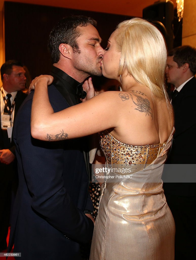 Actor taylor kinney and singer lady gaga attend universal nbc