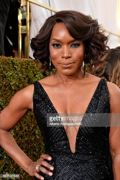 71st ANNUAL GOLDEN GLOBE AWARDS Pictured Actress Angela Bassett arrives to the 71st Annual Golden Globe Awards held at the Beverly Hilton Hotel on...