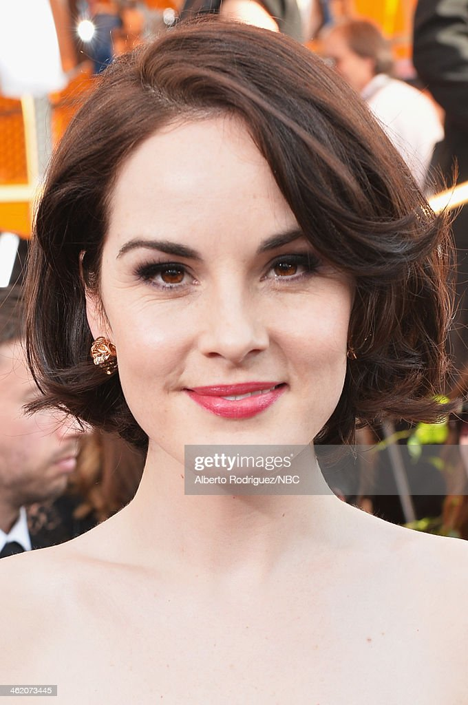 71st ANNUAL GOLDEN GLOBE AWARDS -- Pictured: Actress Michelle Dockery arrives to the 71st Annual Golden Globe Awards held at the Beverly Hilton Hotel on January 12, 2014 --