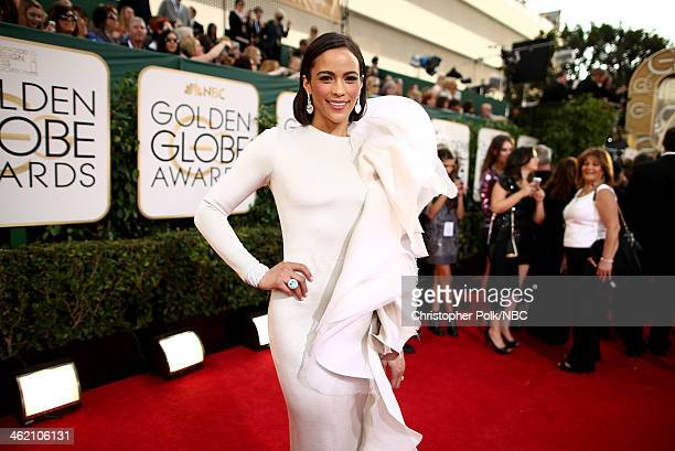 71st ANNUAL GOLDEN GLOBE AWARDS Pictured Actress Paula Patton arrives to the 71st Annual Golden Globe Awards held at the Beverly Hilton Hotel on...