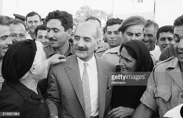 7/20/1964TrikomoCtprusSurounded by people of his native village former EOKA leader General George Grivas receives a hero welcome Grivas returned to...