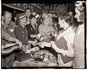 7/22/1942New York NY The entertainers from night clubs along New York City's famous 'Swing Street' fiftysecond street cooperating with the American...