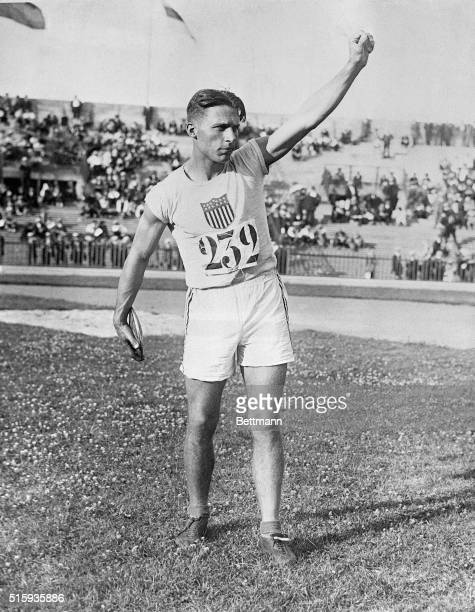 7/23/1924Paris France Picture shows Clarence 'Bud' Houser US after winning the discus throw