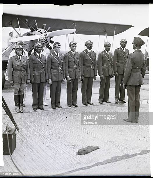 7/24/35Roosevelt Field Long Island What is said to be the first Negro Squadron appeared here in uniform July 23 to go through their training paces...